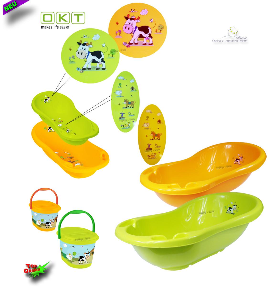 funfarm babywanne badewanne badesitz baby baden zwei farben mit ohne st nder ebay. Black Bedroom Furniture Sets. Home Design Ideas